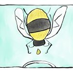 Drawing of a bee.