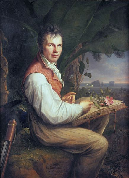 Alexander von Humboldt as painted by Friedrich Georg Weitsch, c. 1860.